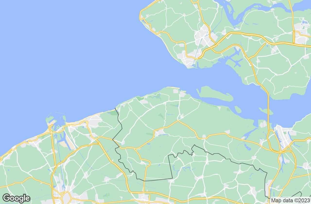 Google Map of Nieuwvliet