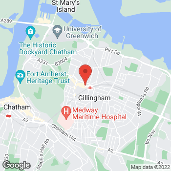 Map of wilko Gillingham at 134-142 High Street, Gillingham, Kent ME7 1AS