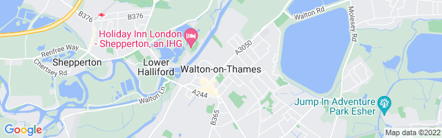 Map Of Walton-on-Thames