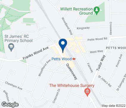 Map of 12 Chatsworth Parade in Petts Wood