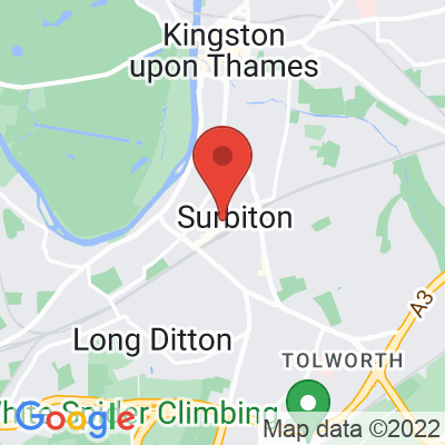 Map showing The Press Room (Surbiton)