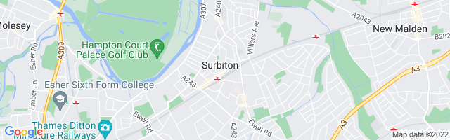 Map Of Surbiton
