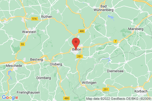 Karte Brilon