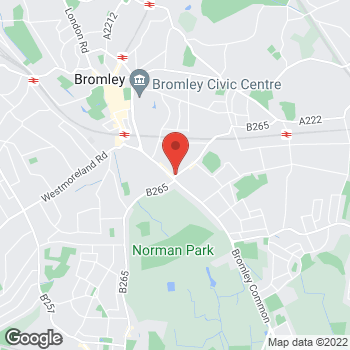 Map of The Co-operative Food Bromley, Homesdale Road at 1 Homesdale Road, Bromley, London BR2 9JQ