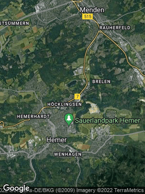 Google Map of Becke bei Hemer