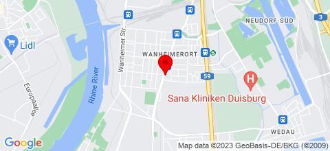 Google Map für HAMMM FERIENWOHNUNGEN