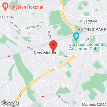 Map of wilko New Malden at 124-130 High Street, Royal Kingston upon Thames,  KT3 4EP