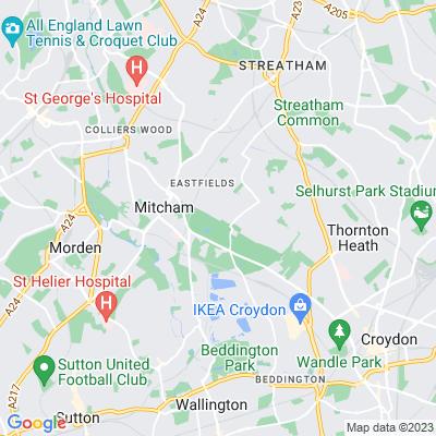 Mitcham Common Location