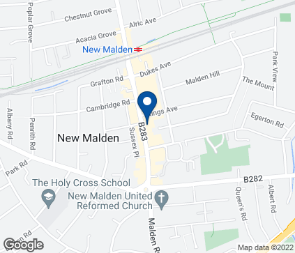 Map of 82 High Street in New Malden