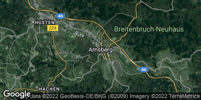 Google Map of Arnsberg
