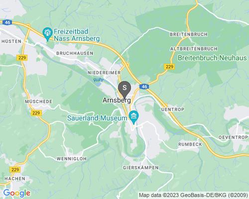 Google Karte von Schlüsseldienst Arnsberg