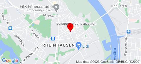 Google Map für MM Zimmer Duisburg