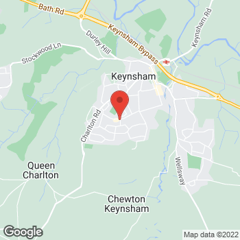 Map of The Co-operative Food Keynsham, Queens Road at 61 Queens Road, Bath & North East Somerset, Keynsham, Somerset BS31 2NW