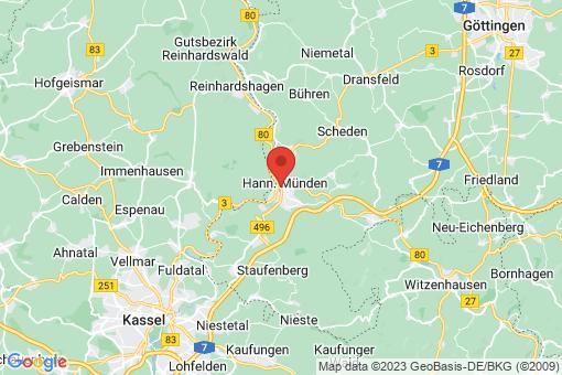 Karte Hannoversch Münden