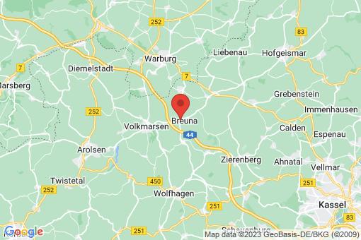 Karte Breuna