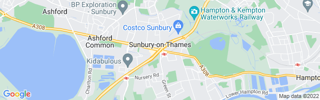 Map Of Sunbury-on-Thames