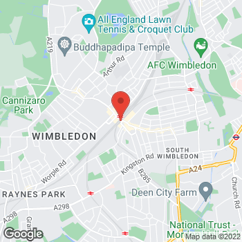 Map of wilko Wimbledon at 4 Wimbledon Bridge House, Wimbledon,  SW19 7NW