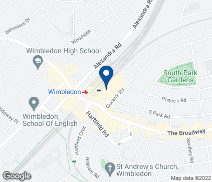 Map of 53 Centre Court  Shopping Centre in Wimbledon