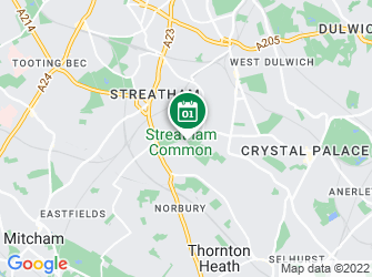 A static map of Great North Wood Walk - Streatham Common to Crystal Palace Park