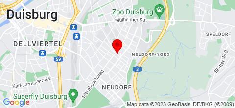 Google Map für Unterkunft Duisburg - Zentral und günstig