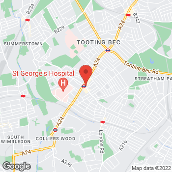 Map of wilko Tooting at 19-21 Mitcham Road, London,  SW17 9PA