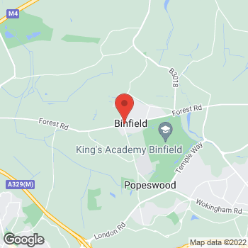 Map of The Co-operative Food Binfield, Forest Road at Forest Road, Binfield, Berkshire RG42 4HP