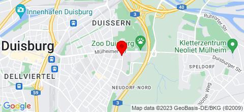 Google Map für Ferienwohnungen Kurepkat Duisburg