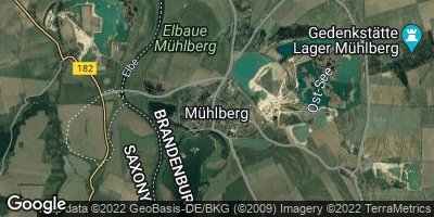 Google Map of Mühlberg / Elbe