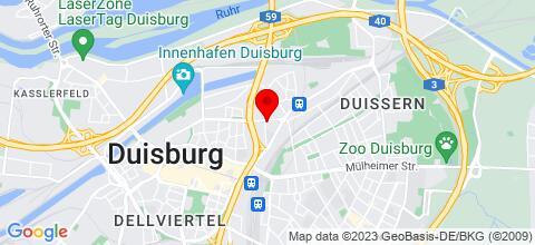 Google Map für in ganz Duisburg für kleine und für große Gruppen