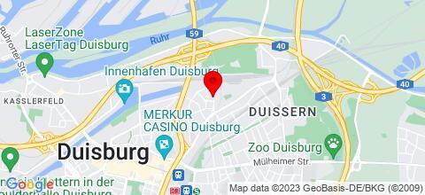 Google Map für  4**** Ferien- und Business-Wohnungen in DU und MH