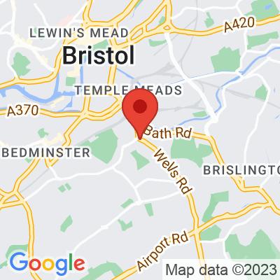 Map showing BANK Bristol