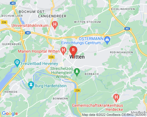 Google Karte von Rohrreinigung Witten