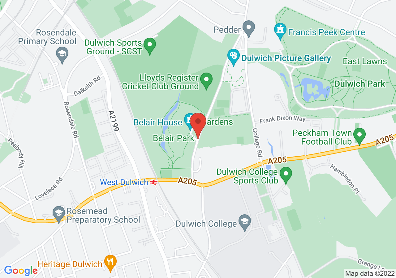 The location of Belair House
