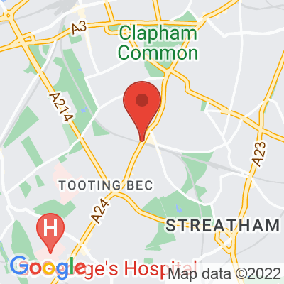 Map showing Camden Coffee (Balham)