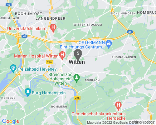 Google Karte von Schlüsseldienst Witten