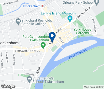 Map of 17 Kings Street in Twickenham