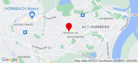 Google Map für MOnteurzimmer Duisburg Beeck