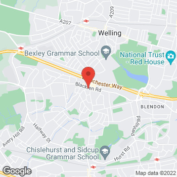 Map of Bargain Booze Blackfen Road at 250 Blackfen Road, Sidcup, Kent DA15 8PW