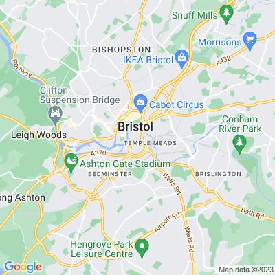 Temple Church and Gardens Bristol Location
