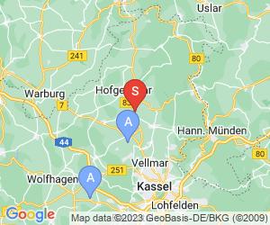 Karte für Disc Golf-Anlage Grebenstein