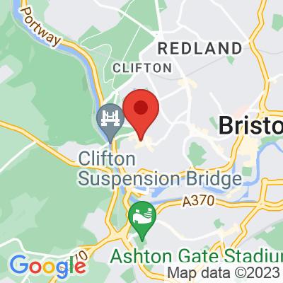 Map showing Eden Café Clifton