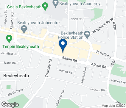 Map of 31-33 The Mall in Bexleyheath