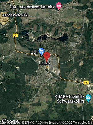 Google Map of Lauta bei Hoyerswerda