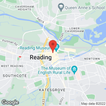 Map of STA Travel at 150 Friar Street, Reading, Berkshire RG1 1HE
