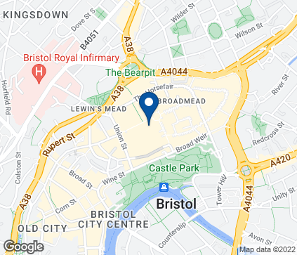 Map of 59 Broadmead in Bristol