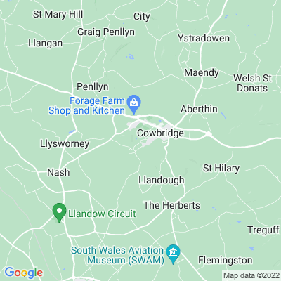 St Quentin's House, Llanblethian, Location