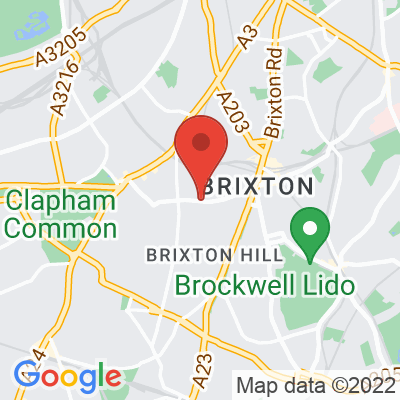 Map showing Blank Brixton