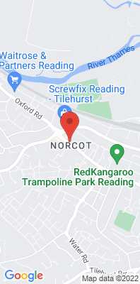Map showing the location of the Reading Oxford Road monitoring site