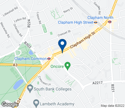 Map of 151 Clapham High Street in Clapham