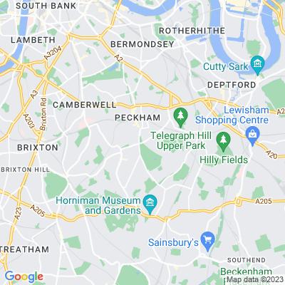 Peckham Rye Common Location